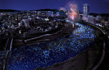 """復興への""""いのり星""""輝き流れる天の川のような白川となるでしょう"""