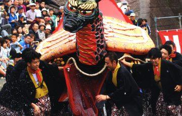 写真提供:八代妙見祭保存振興会/平成27年フォトコンテスト亀蛇部門賞「亀蛇参上」