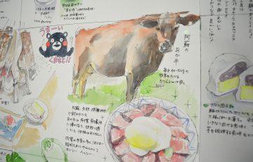 あか牛と、くまモンと。