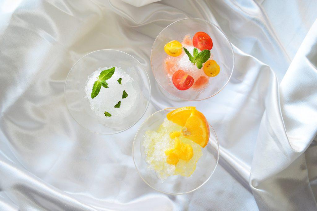 かき氷カクテル仕立て3種(上)