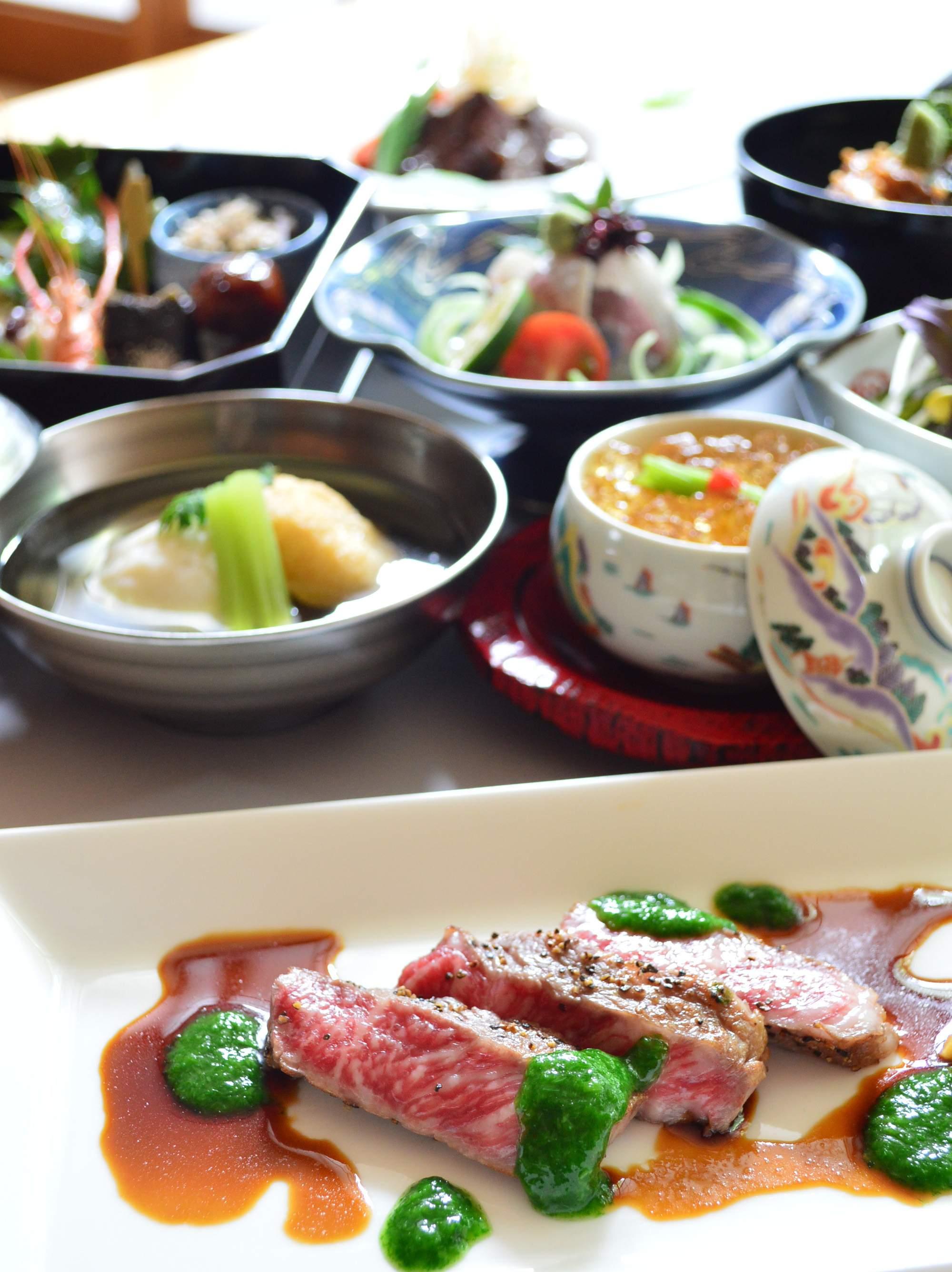 あか牛とひご野菜を愉しむ宴 料理イメージ写真
