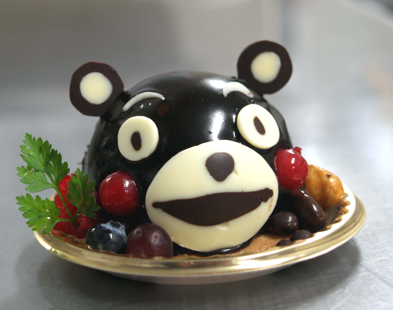 かわいい チョコケーキ くまモンバージョン