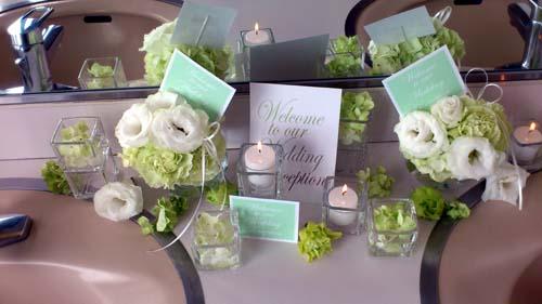 レストルームのお花